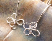 Innocent - Floral Sculpted Artisan EARRINGS -Sterling Silver