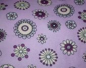 Purple flowers - Receiving/Swaddling Blanket