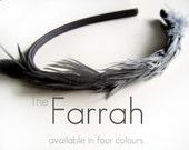Farrah, a feather headband full of whimsy
