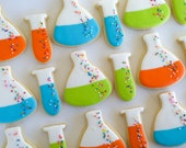 Beaker and Test Tube Cookies- 4 Dozen