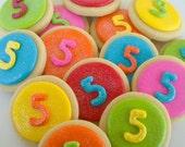 Colorful Circle Mini Sugar Cookies - 2 Dozen