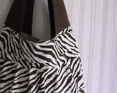 Reserved...sling bag...chocolate brown zebra
