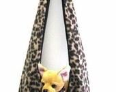Custom made soft fleece sling dog pet carrier bag purse sz xs choose your fabrics