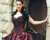 Corset Victorian Gothic Vampire Corset Halloween corset free shipping in continental US