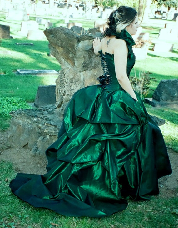 Masquerade Gown-victorian ball-interview with a vampire gown-bustle gown-halloween wedding-alternative-prom dress-alternative-gown-couture