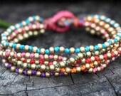 Colorful Lula Brass Bracelet