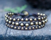 3 Strand Brass Bracelet