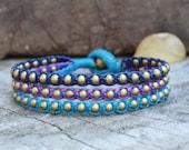 Ice Blue Brass Bracelet