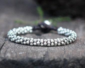 All Silver Kid Bracelet