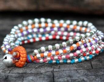 Colorful Lula Silver Bracelet
