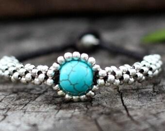 Blue Eye Silver Bracelet