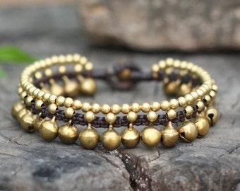 Saraphi Brass Bell Bracelet