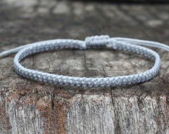 Gray Cord Knot Bracelet