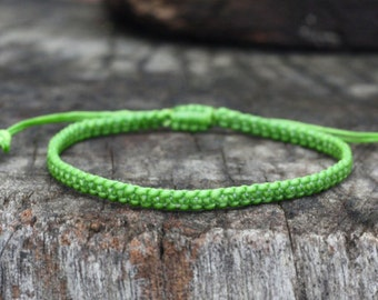 Fresh Green Cord Knot Bracelet