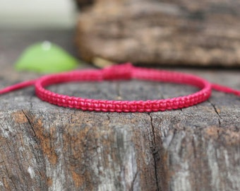 Dark Pink Cord Knot Bracelet