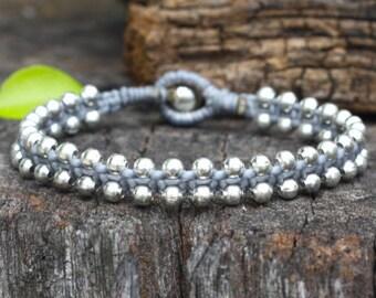 Charm Silver Gray Bracelet