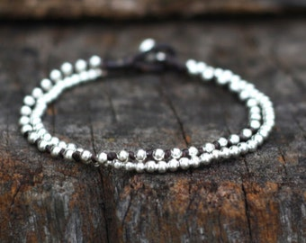 Silver Chain Bind Bracelet