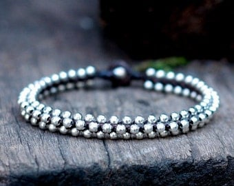 Silver Bead Anklet