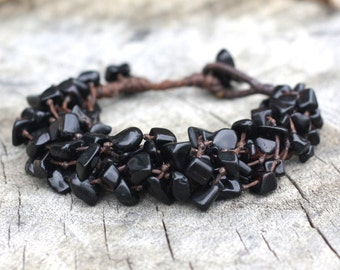 Heavy Black Stone Bracelet
