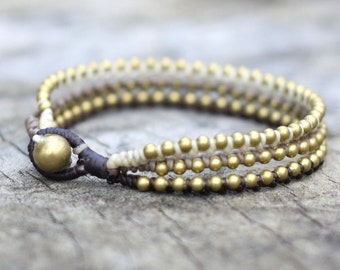 Brown Tone Brass Stud Bracelet
