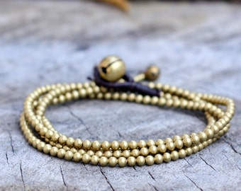 Long Wrap Brass Chain Bracelet/Anklet