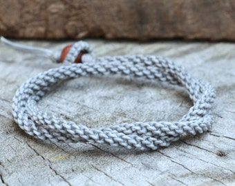 Double Gray Woven Unisex Bracelet/Necklace