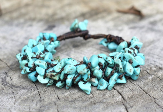 Heavy Turquoise Stone Bracelet