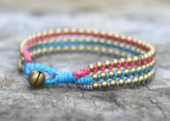 Sweet Peony Brass Bracelet