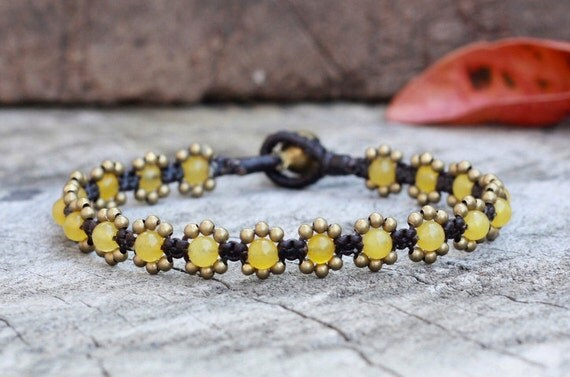 Elfin Lemon Brass Bracelet
