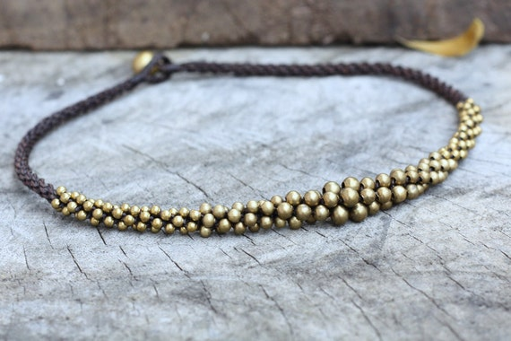 Ball Brass Necklace/ Choker Necklace