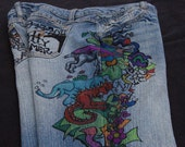 Custom Inked Jeans - Tattooed Jeans