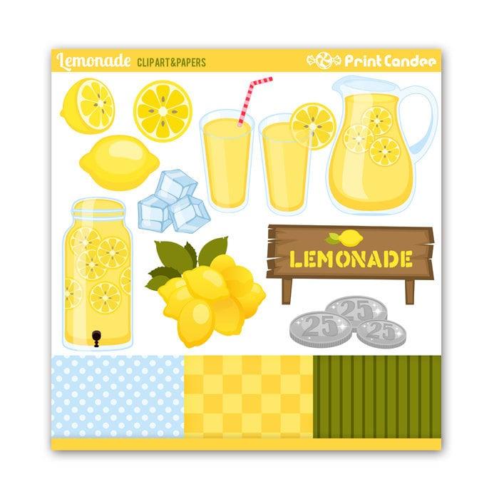 Juice Pouch Clip Art Lemonade - digital clip art
