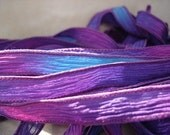 Dazzle 5 hand painted silk ribbons