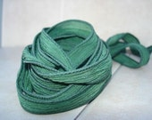 Seaweed 5 hand dyed silk ribbons