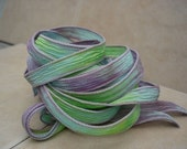 Waterlily 5 hand dyed 42 inch silk ribbons