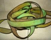 Grasshoppers 5 silk ribbons