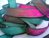 Paradise 42 inch hand dyed silk ribbons