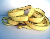 Ray of Light 5 hand dyed silk ribbons