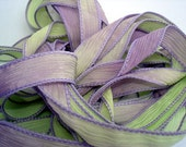 Margarita 5 hand dyed silk ribbons