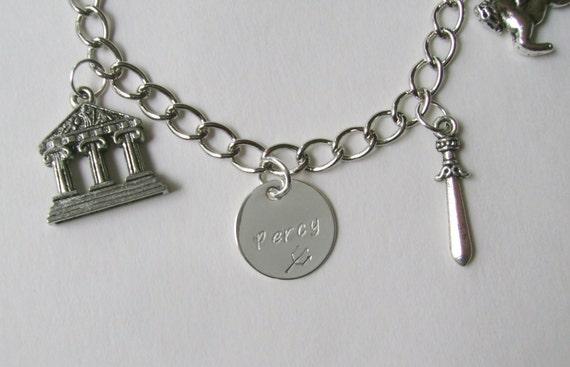Percy Jackson inspired charm bracelet