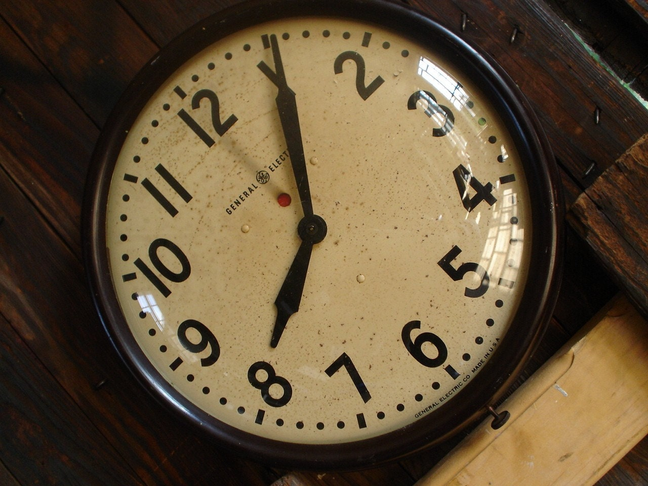 Salvaged Industrial Large Wall Clock