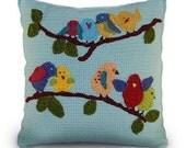 Birds Crochet Pillow Pattern