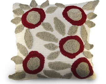 Crochet Pillow Patterns with Modern Flowers, Crochet Throw Pillows, Easy Crochet Patterns, Graphic Pillow Crochet Pattern, Instant Download