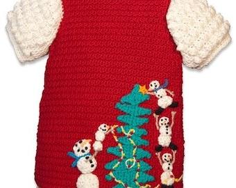 Crochet Pattern PDF Christmas Dress Children