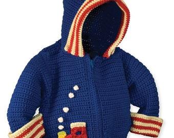 Baby Crochet Patterns,  Hoodie Crochet Patterns, Baby Boy Crochet Pattern, Crochet Jacket Pattern