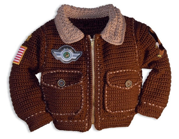 Free Crochet Patterns Baby Jackets : Baby Crochet Patterns Baby Boy Crochet Pattern Bomber Jacket