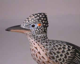 Greater Roadrunner Wooden Carved Bird