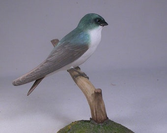 tree swallow wood carving bird for sale wooden bird carvings