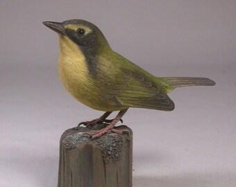 Kentucky Warbler Wood Carving Bird