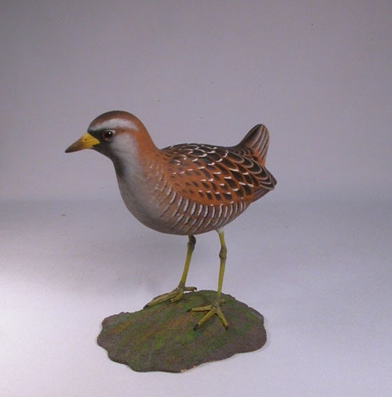 8 inches Sora Rail Hand Carved Wooden Bird